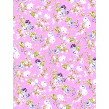 PAPEL DECOPATCH FLORES ROSA