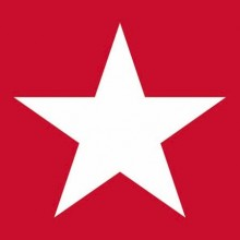 SERVILLETAS STAR RED