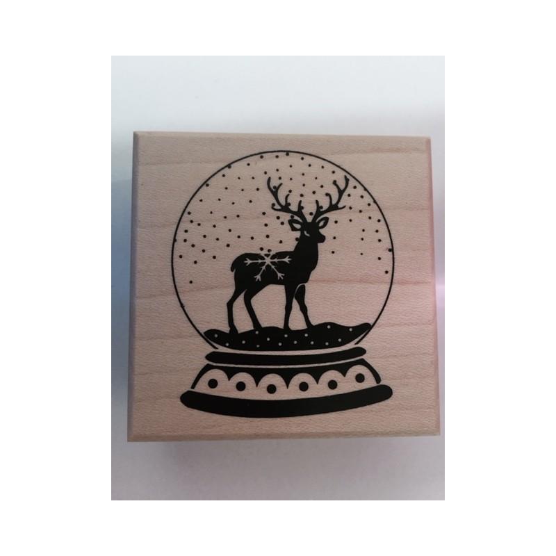 Sello Madera Ciervo Navidad Les Parisinnes - Ciervo-navidad
