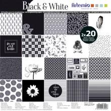 BLOC PAPELES BLACK&WHITE