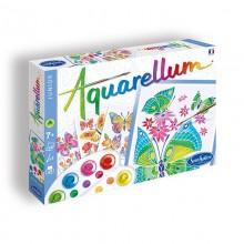 Aquarellum papillons et fleurs